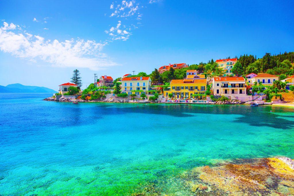 Beautiful bay in Kefalonia island Greece