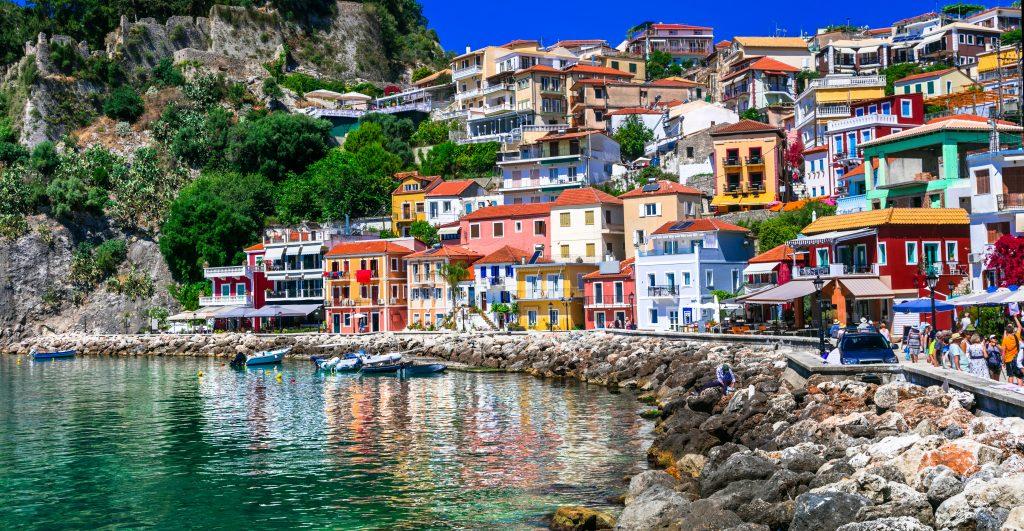 Colourful port of Parga Greece