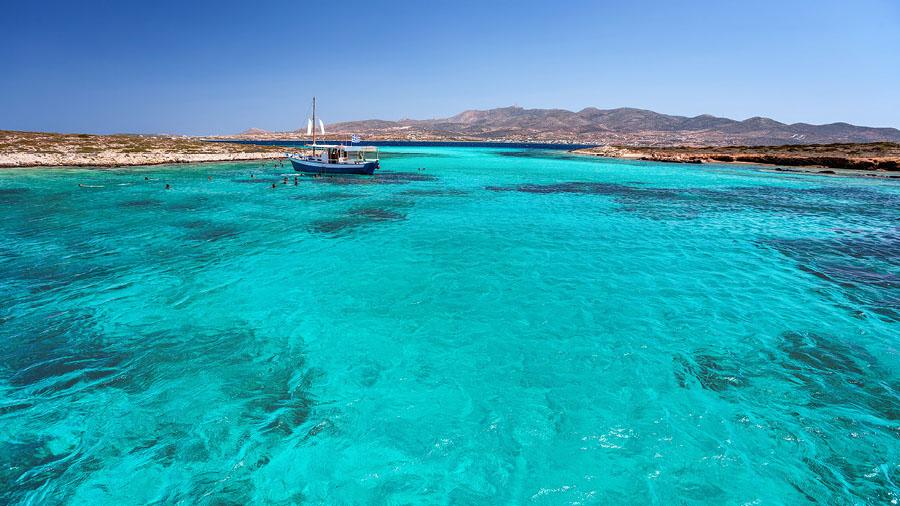 Crystal waters at Antiparos island