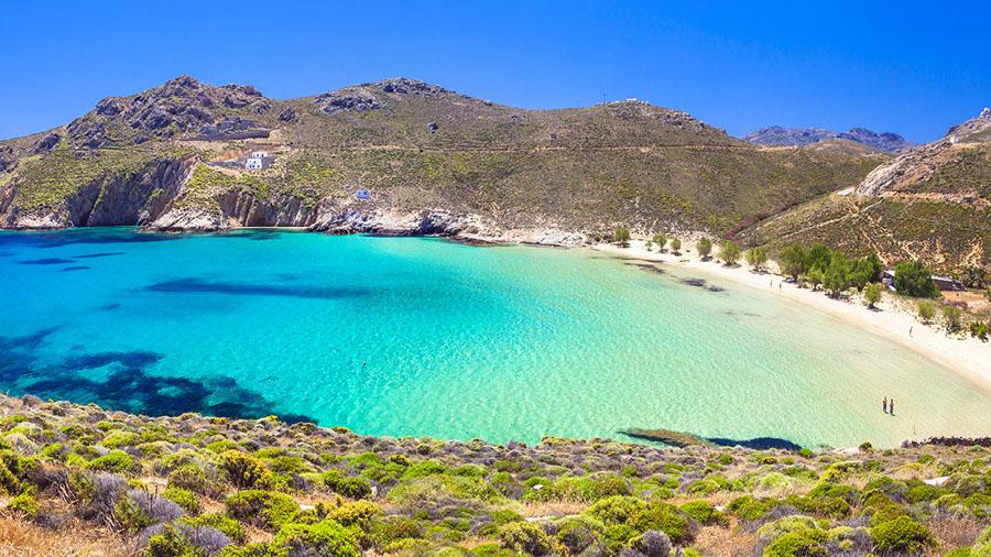 Sandy beach at Serifos island