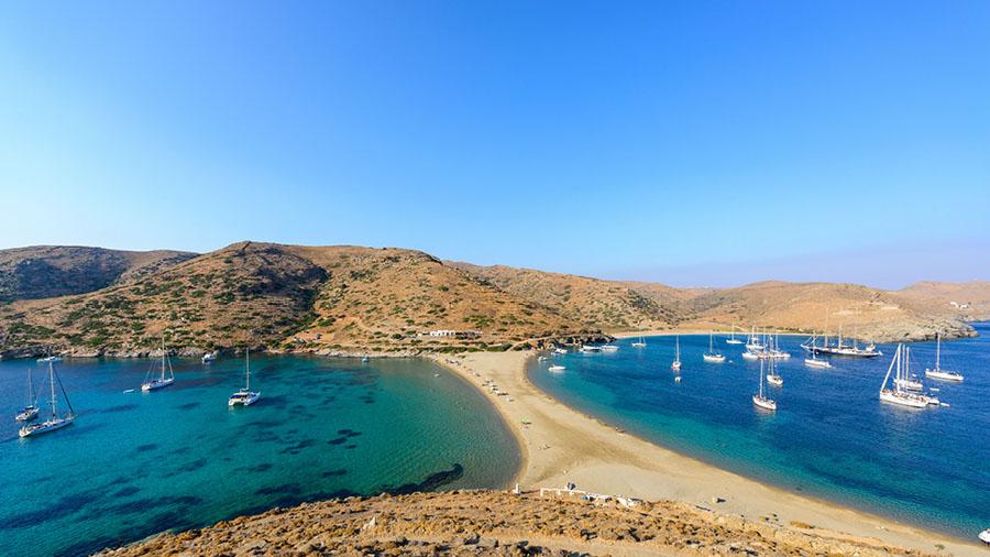 Kolones beach at Kithnos island
