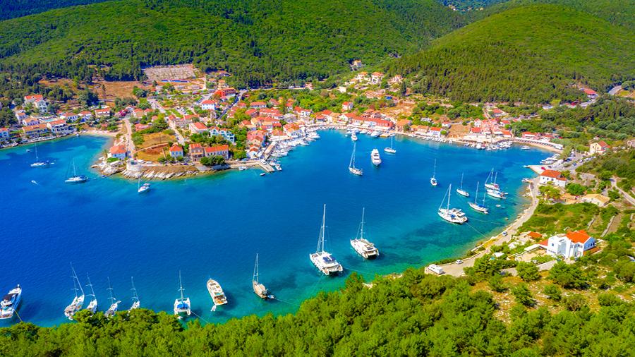Fiskardo port, Kefalonia Greece