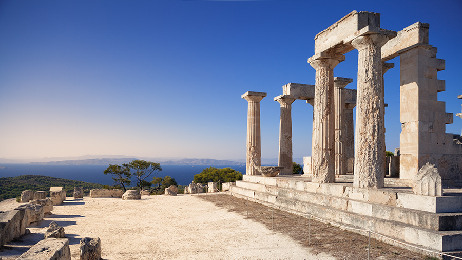 Ancient Temple of Aphaia at Aegina island