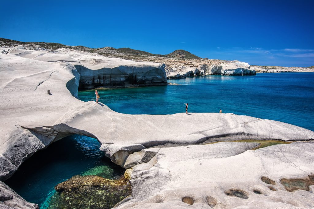 Milos breathtaking scenery of Sarakiniko Bay