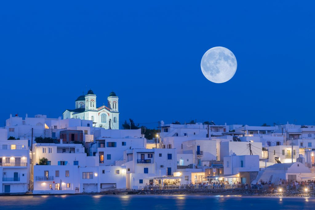 Full moon in Paros island
